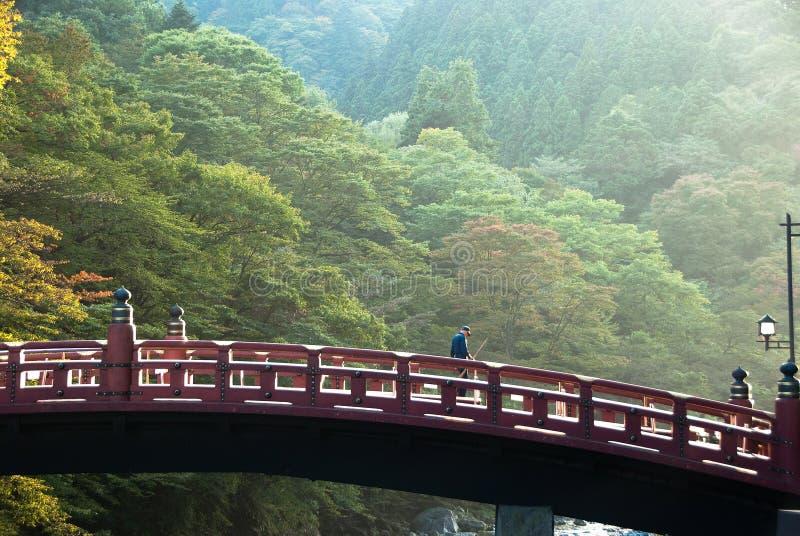 El puente de Shinkyo de Nikko, Japón fotografía de archivo