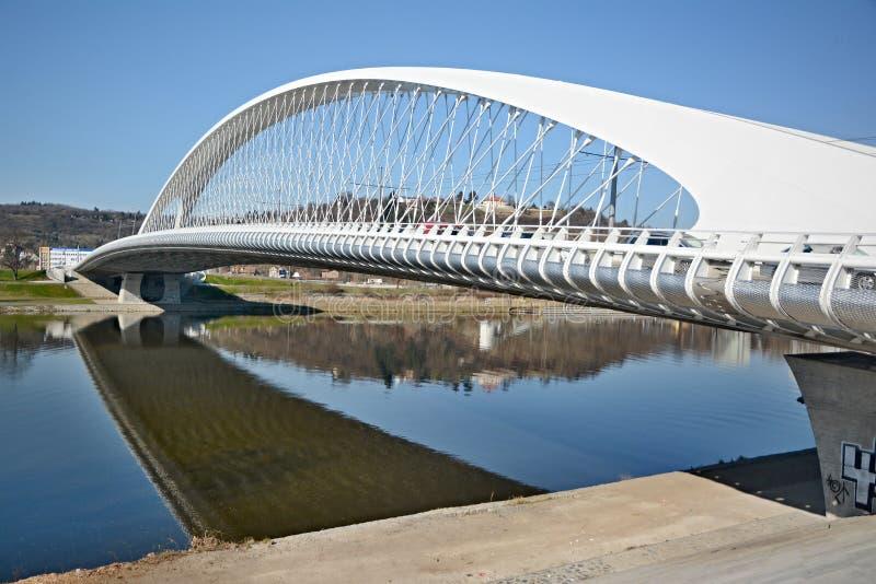 El puente de Troja fotografía de archivo