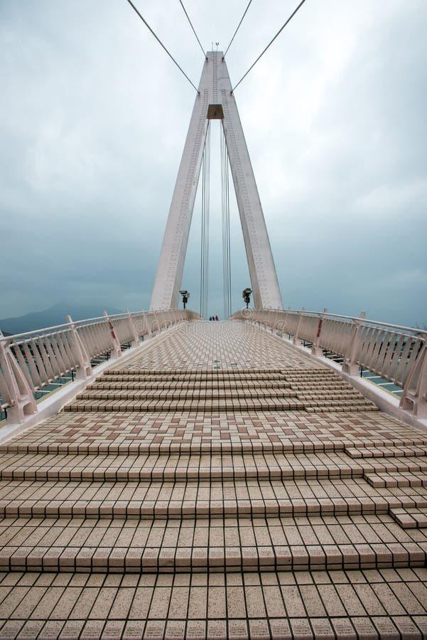 El puente del amante en muelle del pescador s de Tamsui imágenes de archivo libres de regalías