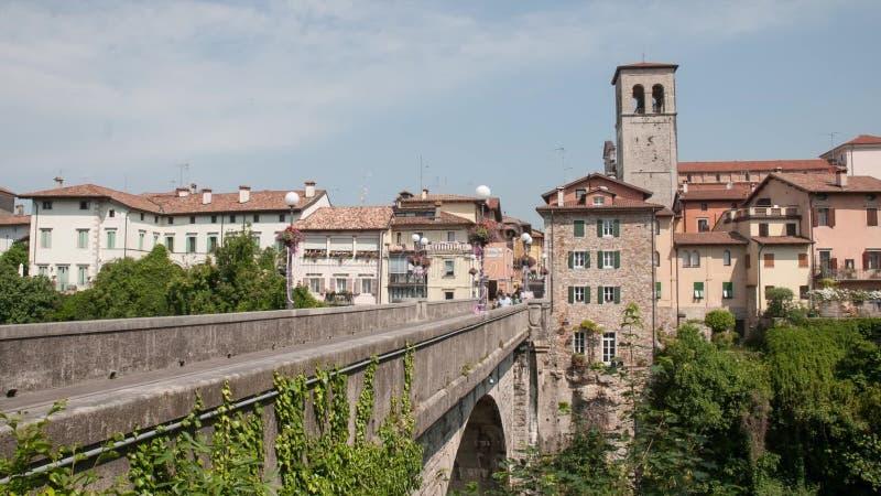 El puente del diablo en Cividale del Friuli almacen de video