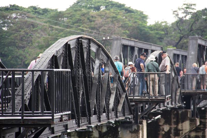 El puente del kwai del río fotos de archivo
