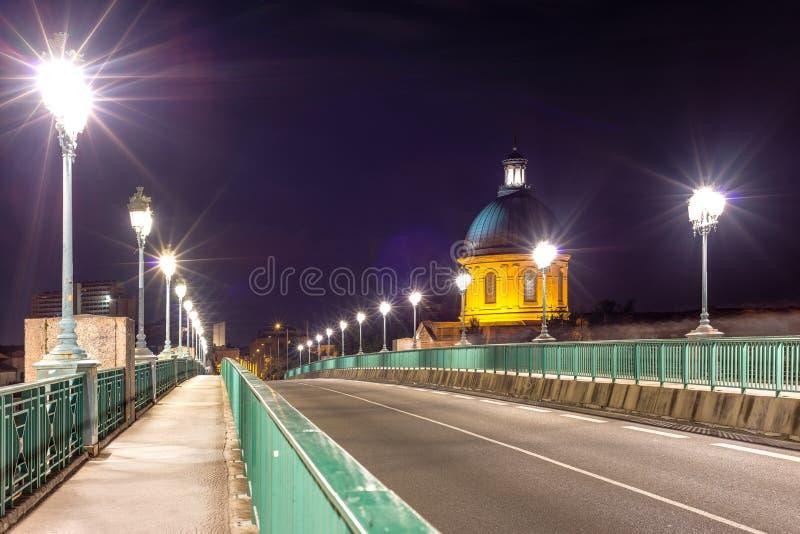 El puente del Saint Pierre en Toulouse, Francia fotografía de archivo
