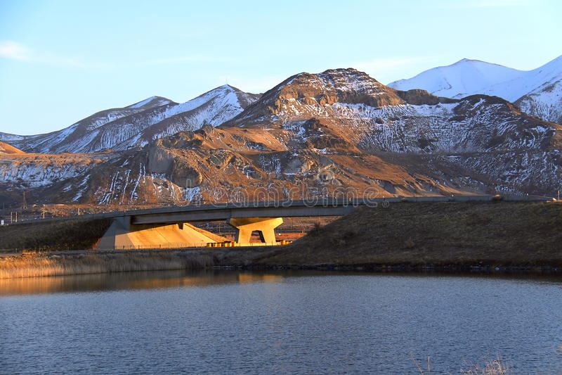 El puente en la ciudad del lago Salk fotos de archivo libres de regalías