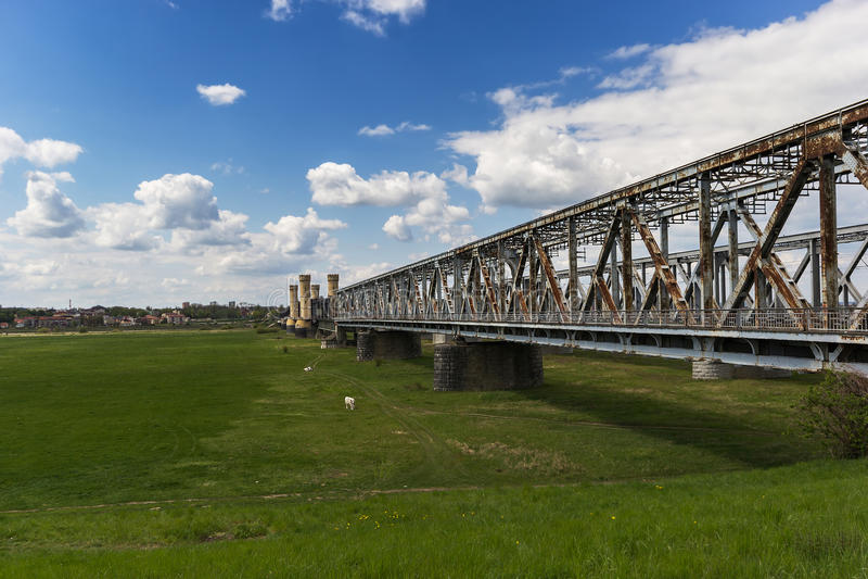 El puente en Tczew imagen de archivo