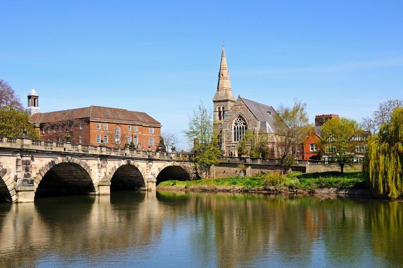 El puente inglés, Shrewsbury foto de archivo libre de regalías