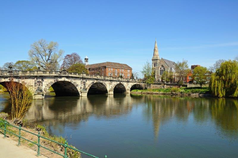 El puente inglés, Shrewsbury imagen de archivo