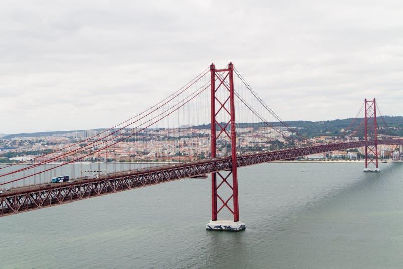 El puente más largo de Europa, Ponte Vasco da Gama, Lisboa foto de archivo libre de regalías