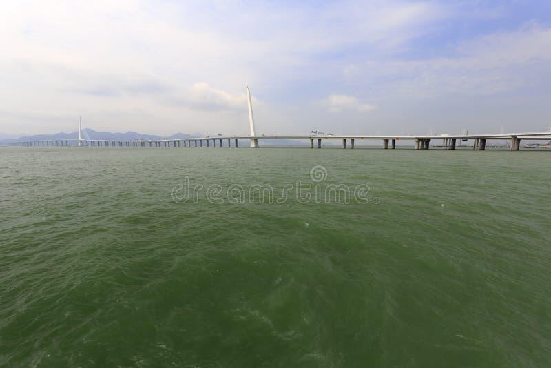 El puente shenzhenwan famoso de la bahía imágenes de archivo libres de regalías