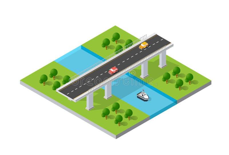 El puente skyway ilustración del vector