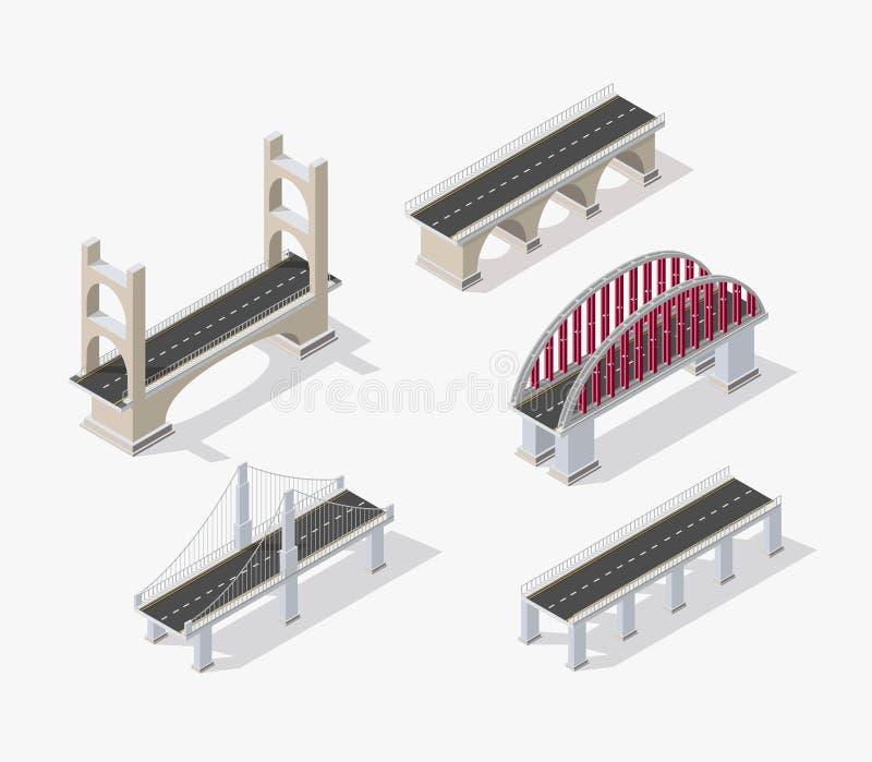 El puente skyway stock de ilustración