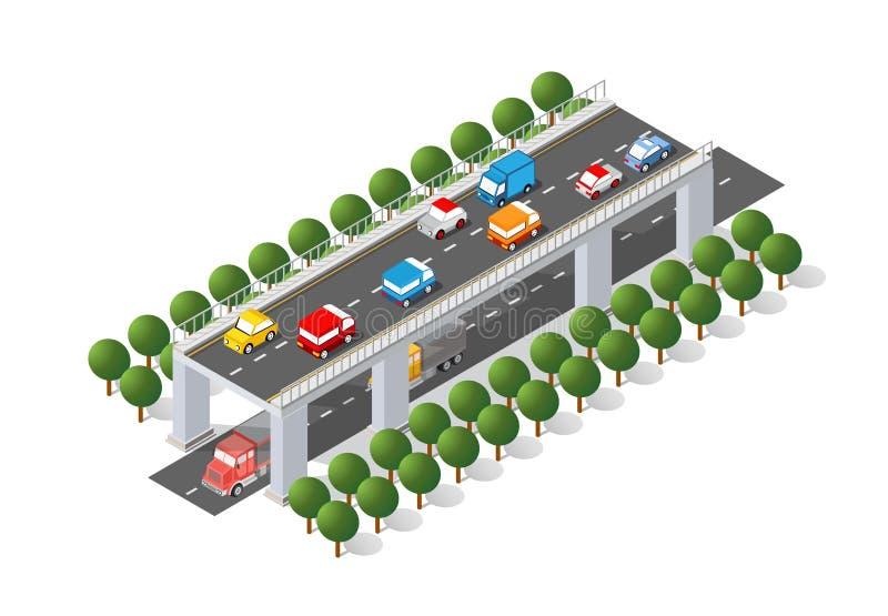 El puente skyway de urbano ilustración del vector