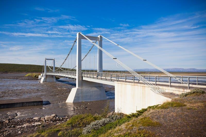 El puente sobre el río islandés Jokulsa un Fjollum fotografía de archivo libre de regalías
