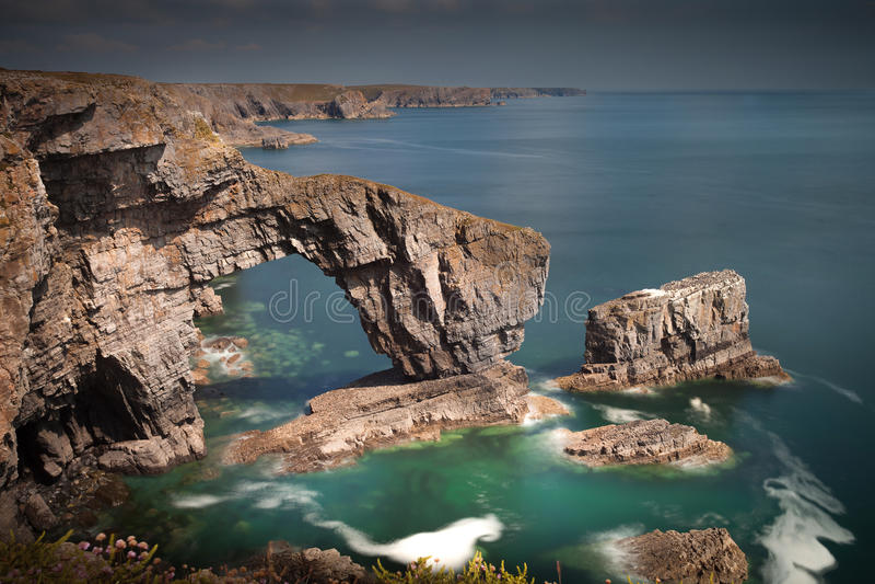El puente verde de País de Gales foto de archivo