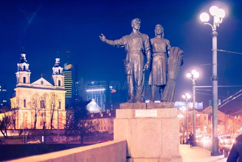 El puente verde en Vilna foto de archivo libre de regalías