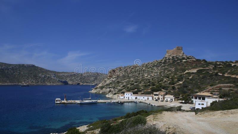 El puerto de Cabrera foto de archivo