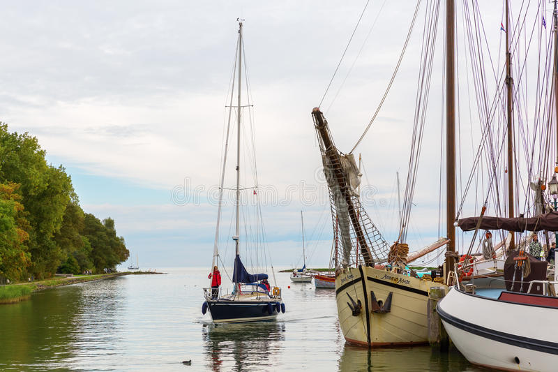 El puerto de Hoorn, Países Bajos fotos de archivo libres de regalías
