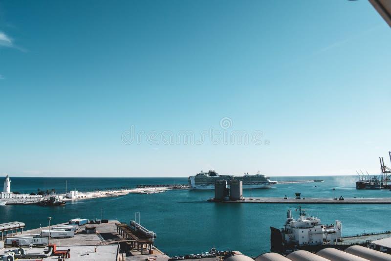 El puerto de Málaga durante noviembre fotos de archivo
