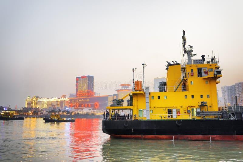 El puerto de Macao foto de archivo libre de regalías