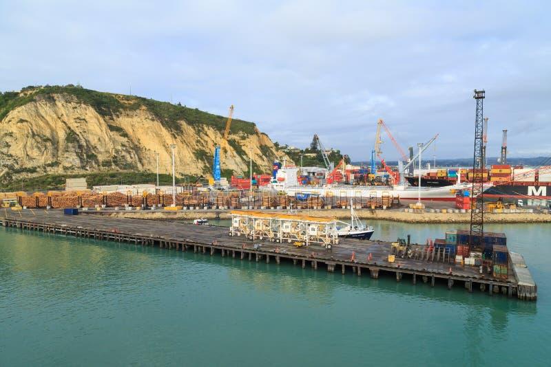El puerto de Napier, Nueva Zelanda imagen de archivo