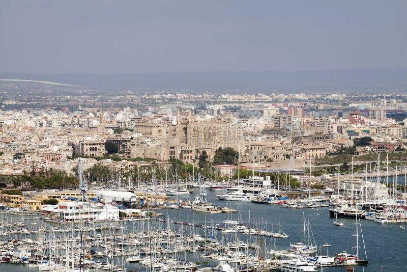 El puerto de Palma de Mallorca, España imagen de archivo