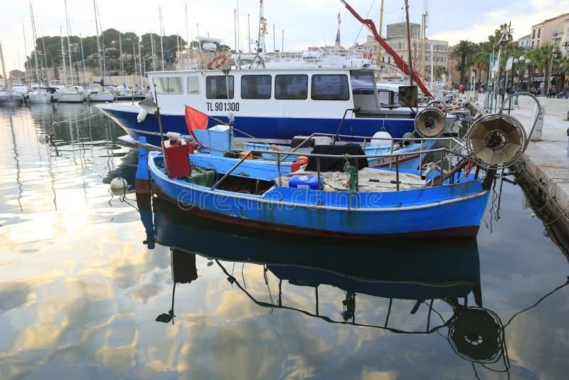 El puerto del sur Mer de Sanary imagen de archivo libre de regalías
