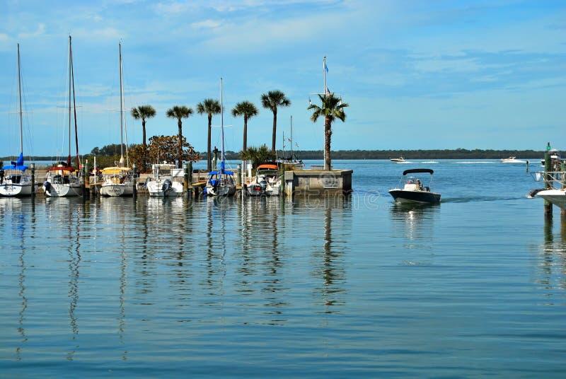 El puerto deportivo en Dundedin, la Florida fotos de archivo libres de regalías