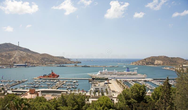 El puerto en Cartagena fotos de archivo libres de regalías