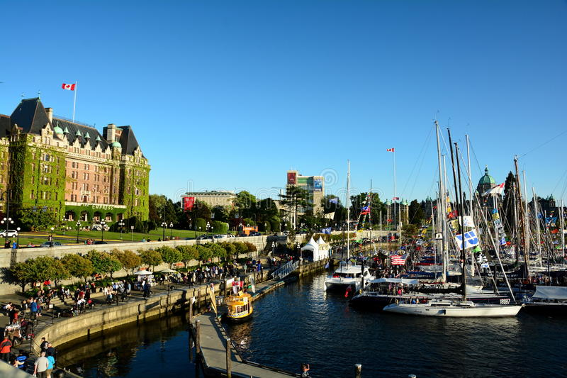 El puerto interno en Victoria, B C fotos de archivo libres de regalías