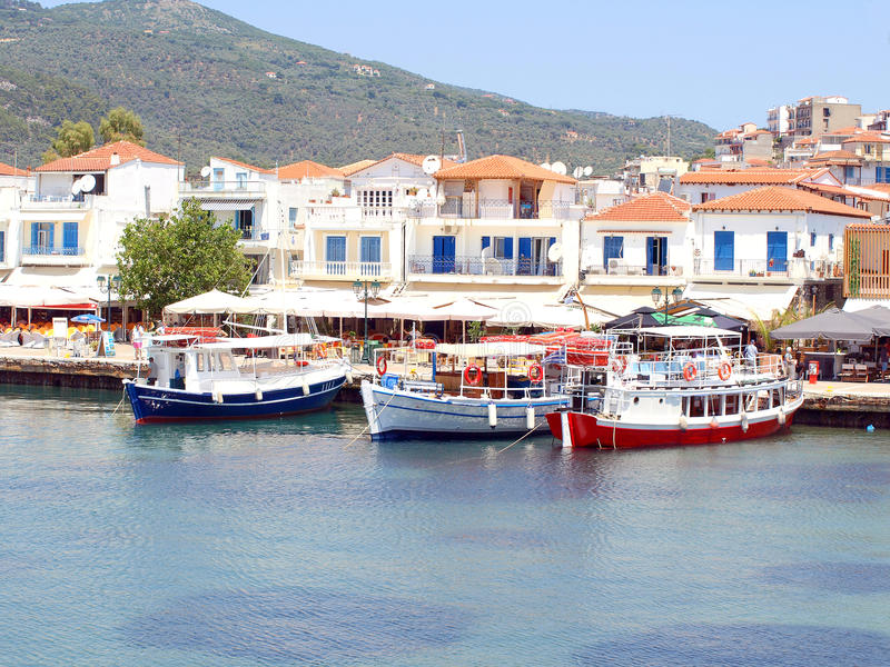 Download El Puerto Viejo, Ciudad De Skiathos, Grecia Foto de archivo editorial - Imagen de barcos, isla: 41908013