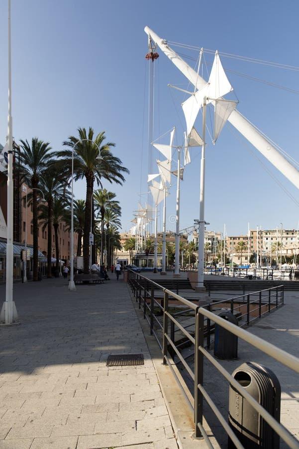 El puerto viejo de Génova (antico de Oporto) foto de archivo libre de regalías
