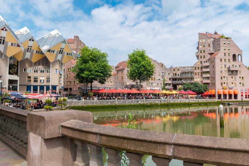 El puerto viejo en Rotterdam imagenes de archivo