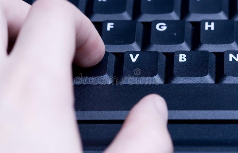 El pulsar del teclado de ordenador imágenes de archivo libres de regalías