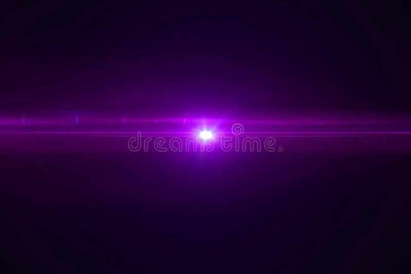 El pulso brillante de la llamarada de la lente del color violeta destella escape para las transiciones en fondo negro, títulos de stock de ilustración