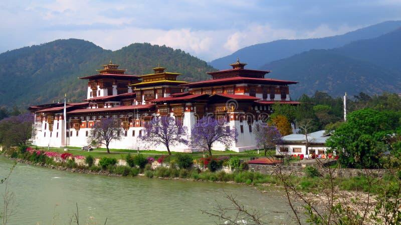 El Punakha Dzong foto de archivo libre de regalías