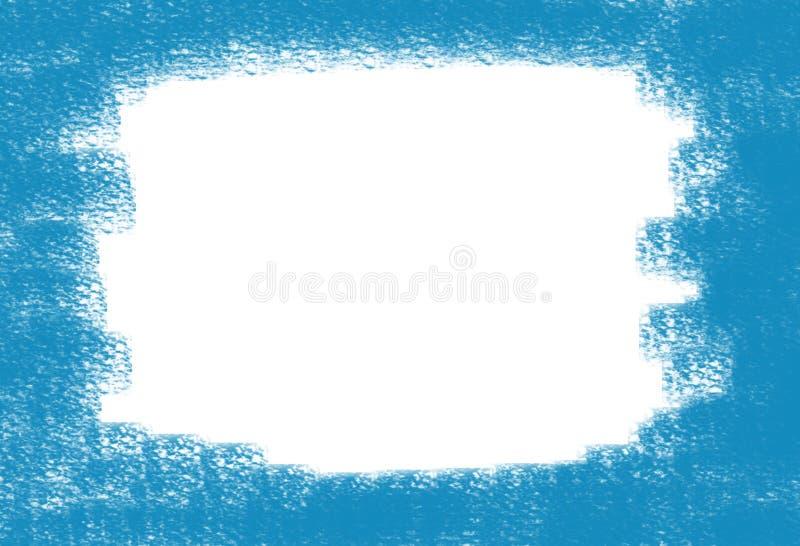 El punto blanqueado marco abstracto del fondo en lona pintó la pintura azul libre illustration