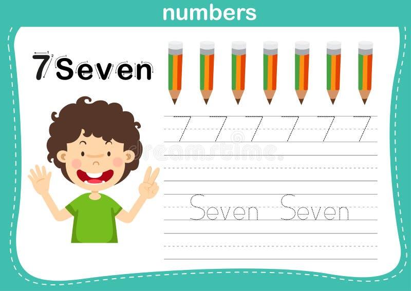 El punto de conexión y los números imprimibles ejercitan para los niños del preescolar y de la guardería libre illustration