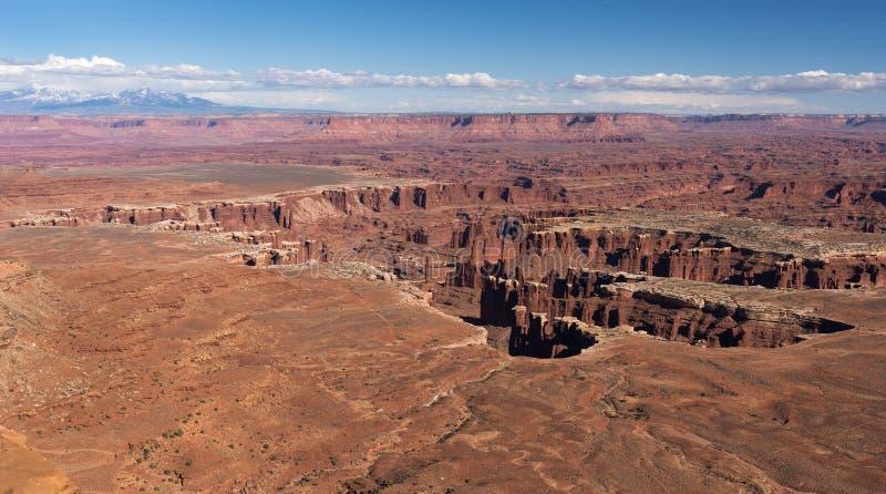 El punto de visión magnífico pasa por alto, del parque nacional Utah de Canyonlands imágenes de archivo libres de regalías