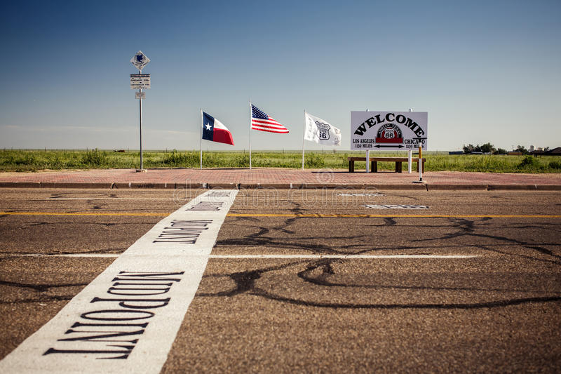 El punto intermediario a lo largo de Route 66 fotografía de archivo libre de regalías