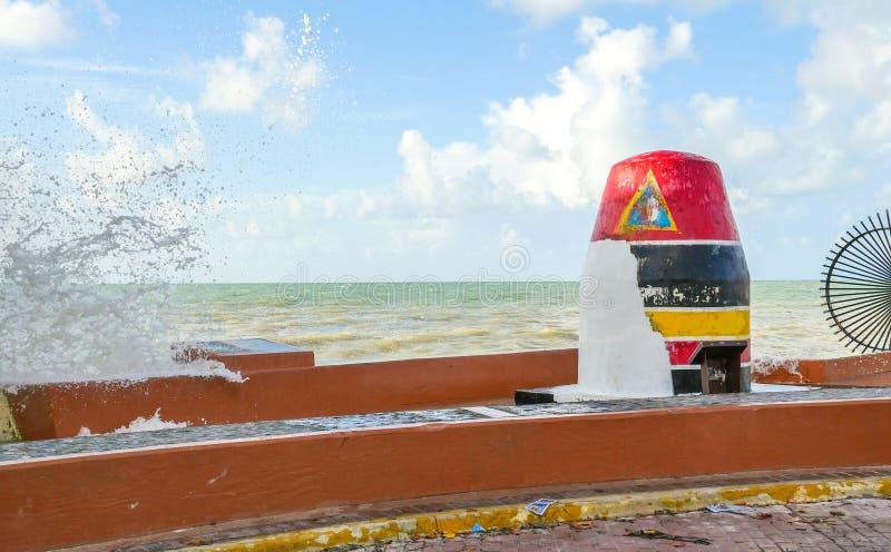 El punto más situado más al sur de Key West después del huracán Irma imagenes de archivo
