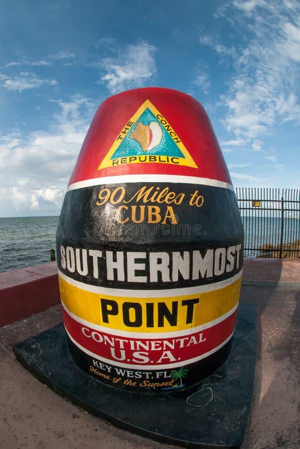 El punto más situado más al sur de los Estados Unidos continentales imagenes de archivo