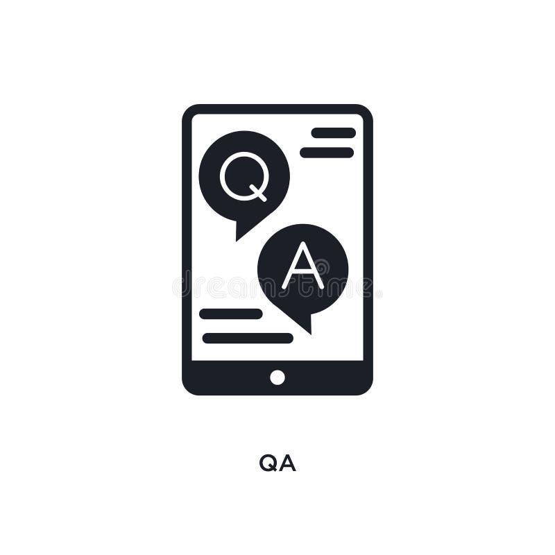 el qa aisló el icono ejemplo simple del elemento de iconos del concepto del aprendizaje electrónico y de la educación diseño edit ilustración del vector