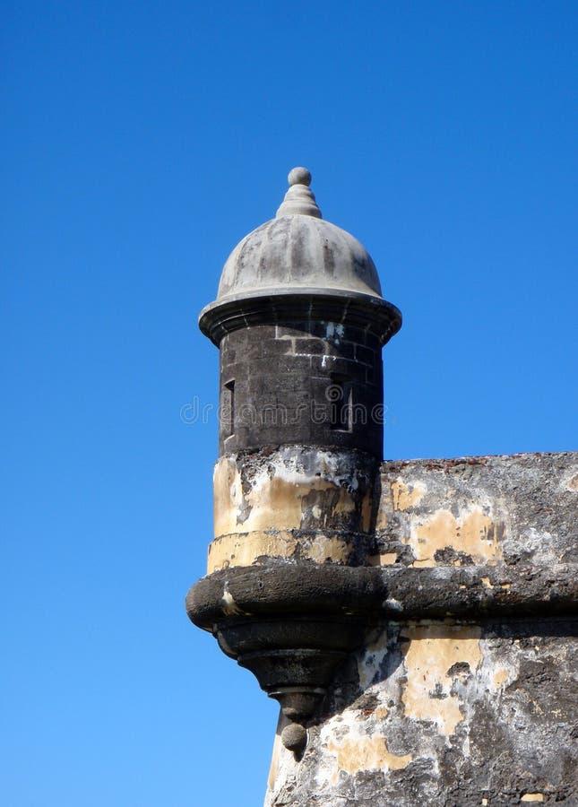 EL que mira Morrow hacia fuera la torre, San Juan, Puerto Rico imagen de archivo libre de regalías