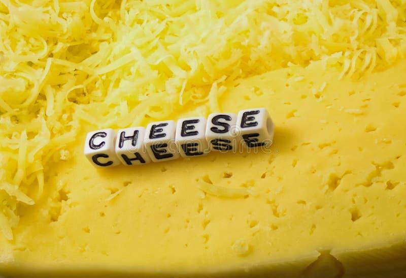 El queso de la palabra fotografía de archivo libre de regalías