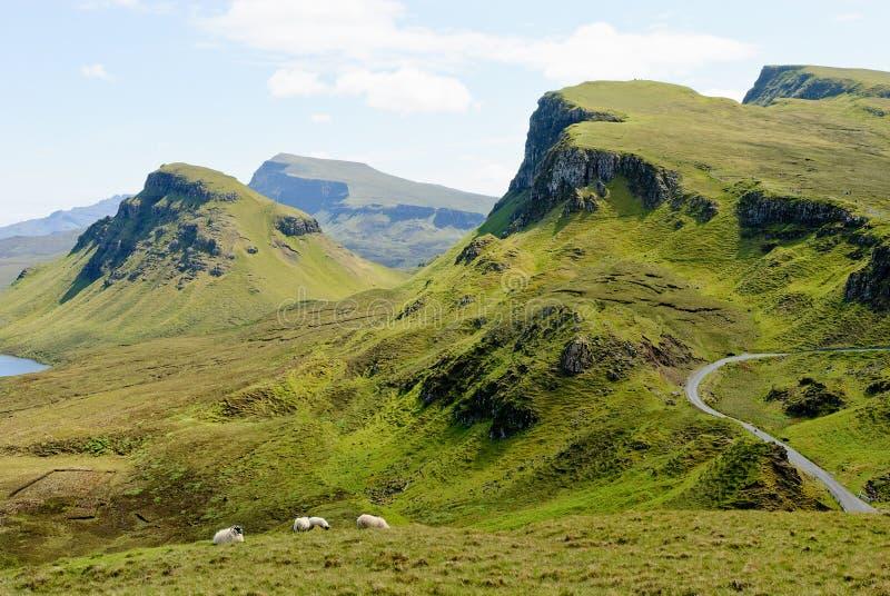 El Quirain, isla de Skye imagenes de archivo