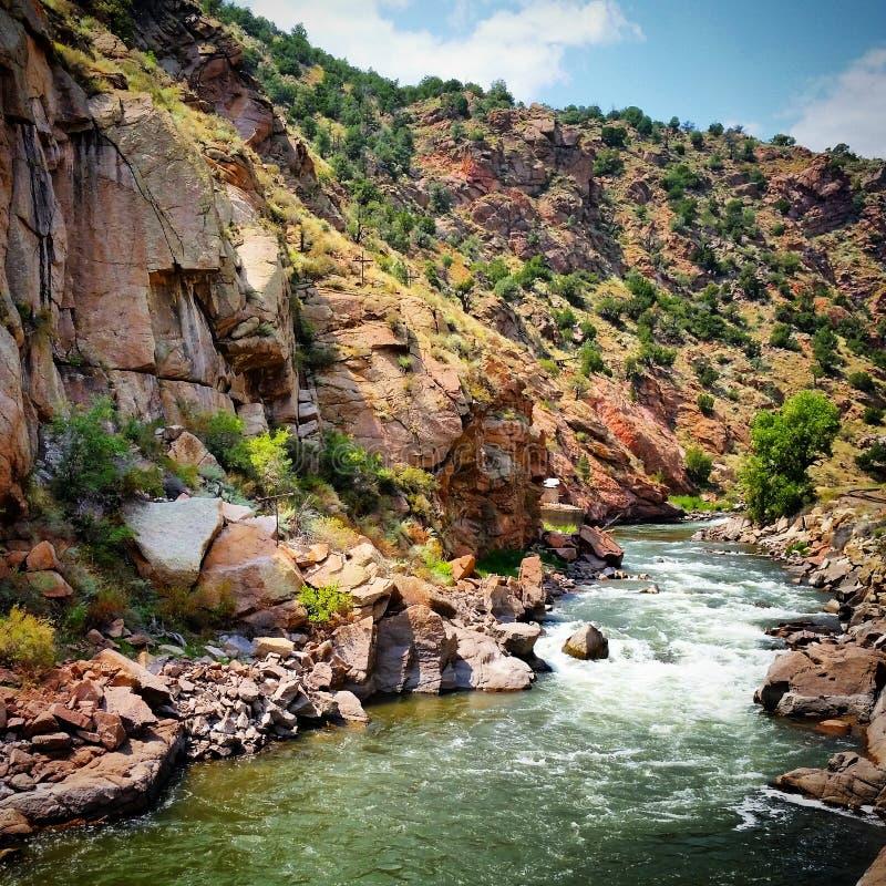 El río Arkansas Colorado fotografía de archivo libre de regalías
