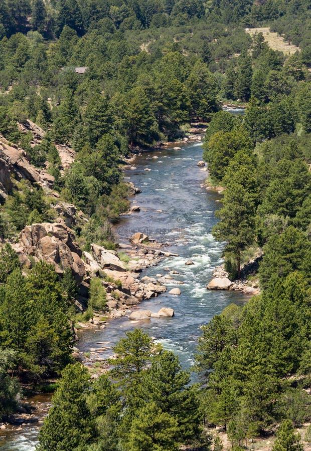 El río Arkansas en Colorado imagen de archivo libre de regalías