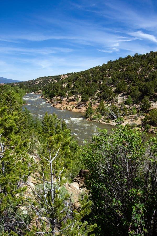 El río Arkansas en Colorado fotos de archivo libres de regalías