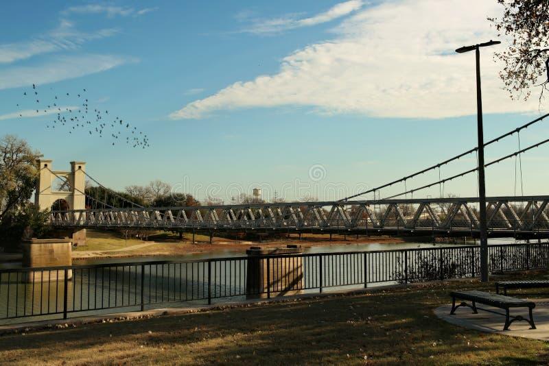 El río Brazos, Waco Tejas fotografía de archivo libre de regalías