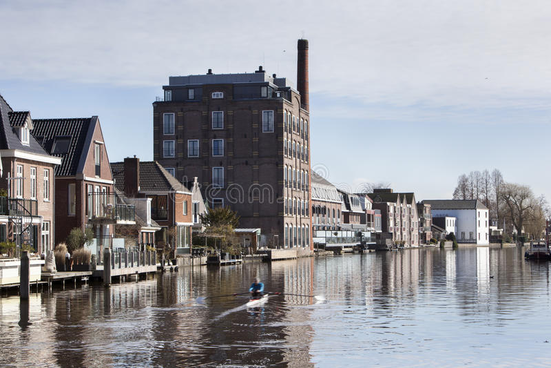 El río cerca de Bodegraven en los Países Bajos imágenes de archivo libres de regalías