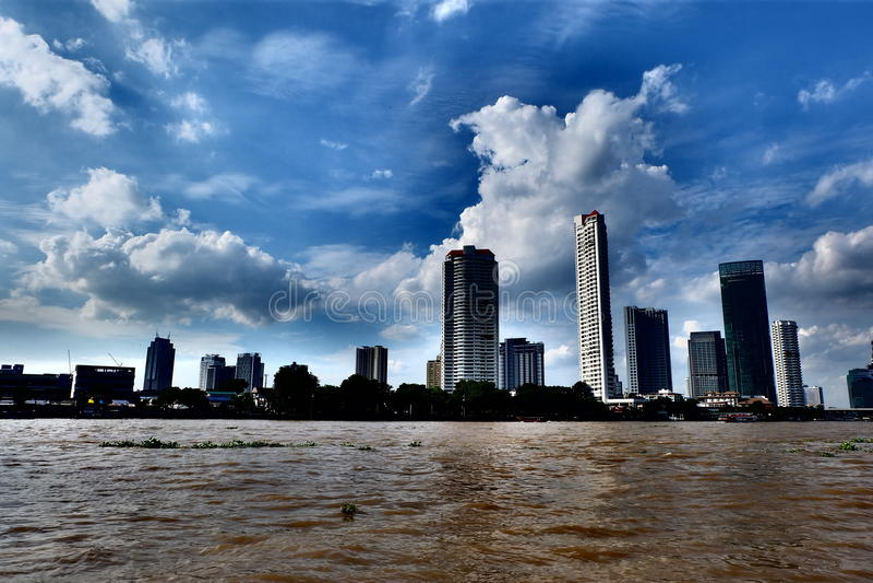 El río Chao Phraya imágenes de archivo libres de regalías